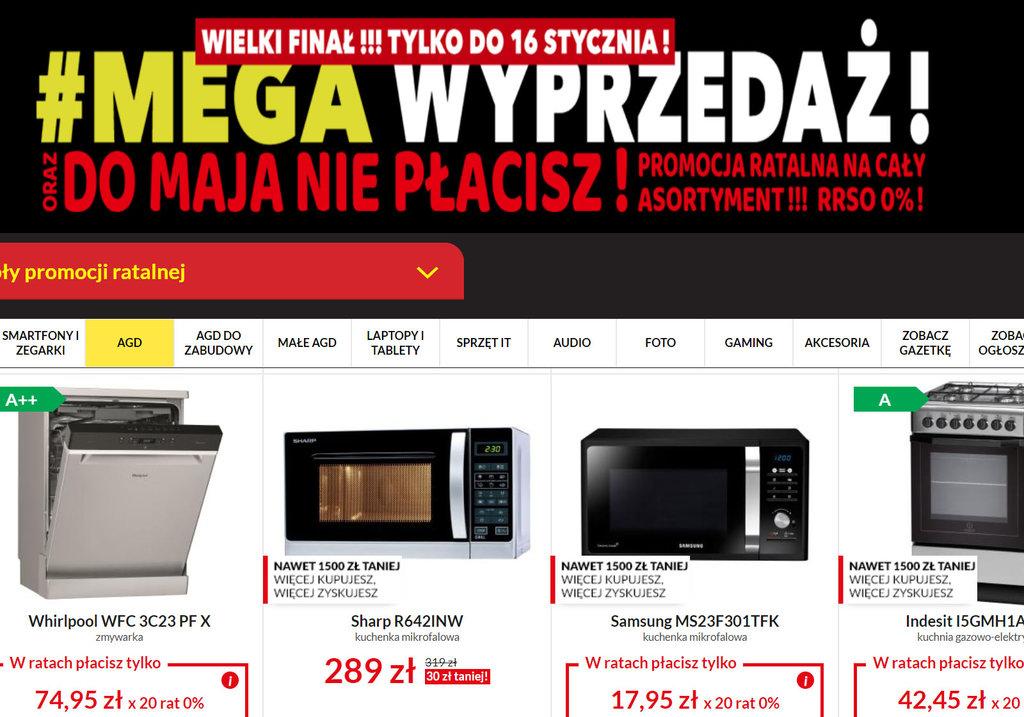 19a70f20452c3a Mega Wyprzedaż w RTV EURO AGD – najlepsze promocje na AGD (tylko do ...